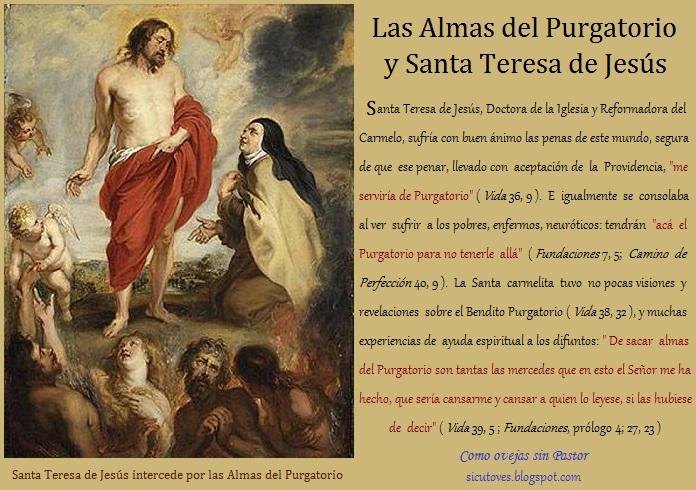 Santa Teresa de Jesús y las Benditas Almas del Purgatorio