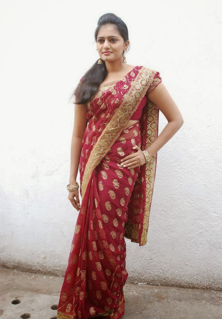Serial Artist Aishwarya in Saree