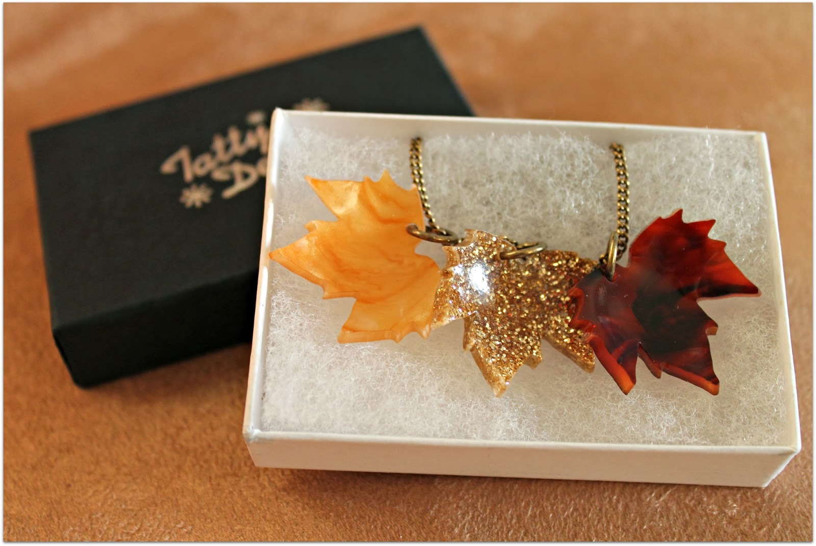 Tatty Devine autumn leaves necklace