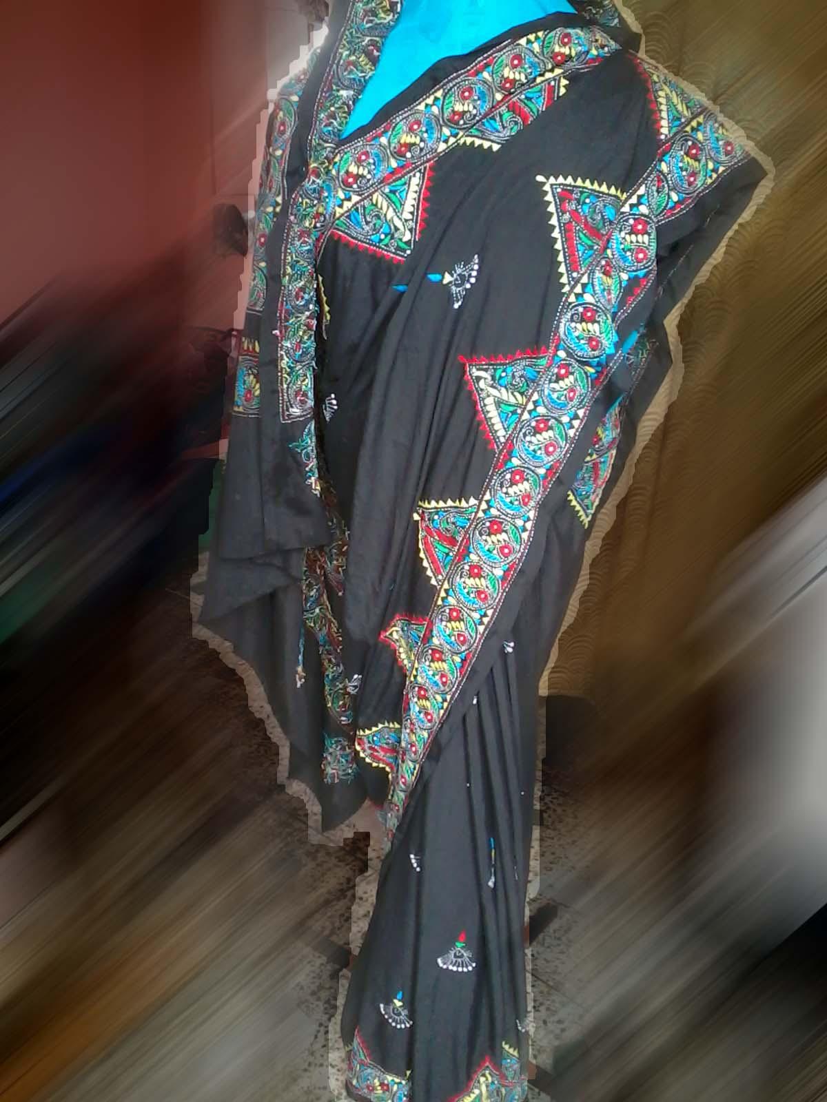 KARULEKHA Hand Embroidery Saree
