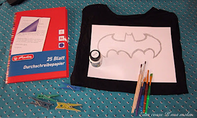 materiales pintar camiseta batman