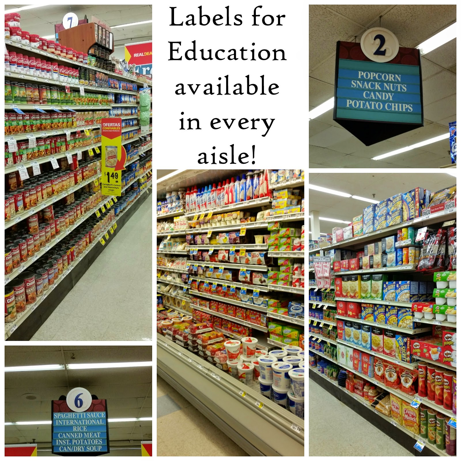 Labels for Education products available in every aisle at your local grocery store! #Labels4Edu #CollectiveBias