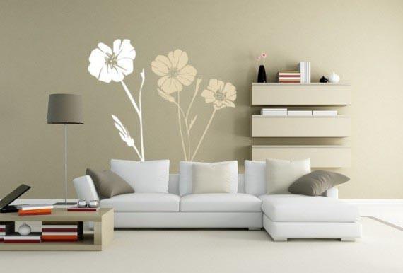 Jolies id es de papier peint pour le salon d cor de - Deco papier peint salon ...