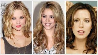 model gaya rambut bergelombang wavy