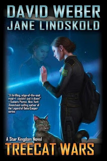 "Book cover: ""Treecat Wars"" by David Weber and Jane Lindskold"