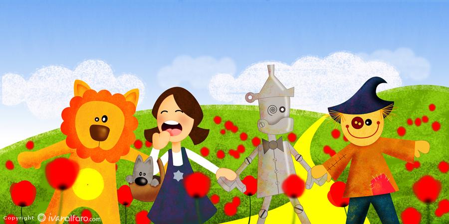 Pupaprinzessin El Mago de Oz en versin dibujos