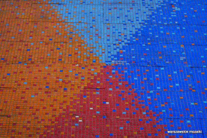 Warszawa Mokotów Postępu 12 KDO detal warszawskie mozaiki