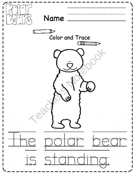 Polar Bear Worksheets Kindergarten Search Results Calendar 2015