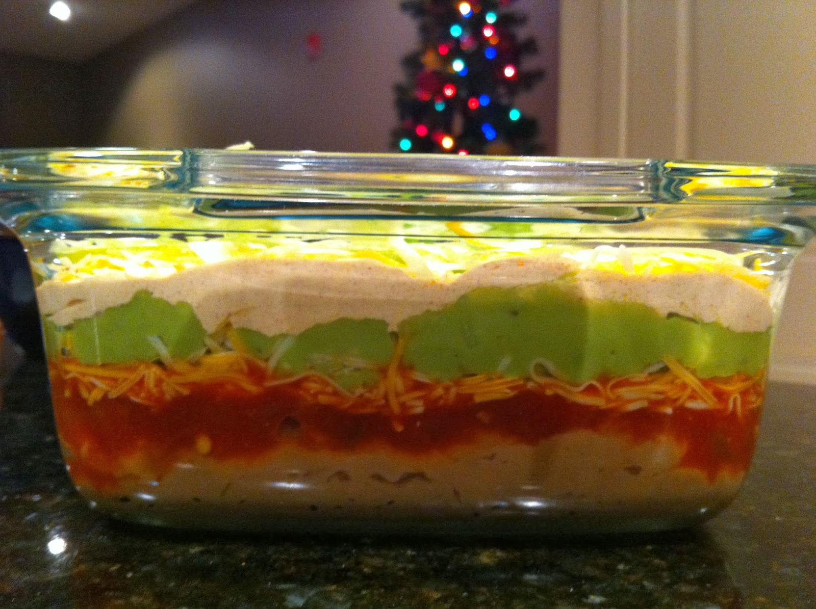 Katie Cooks Dinner: THE BEST 7 LAYER BEAN DIP