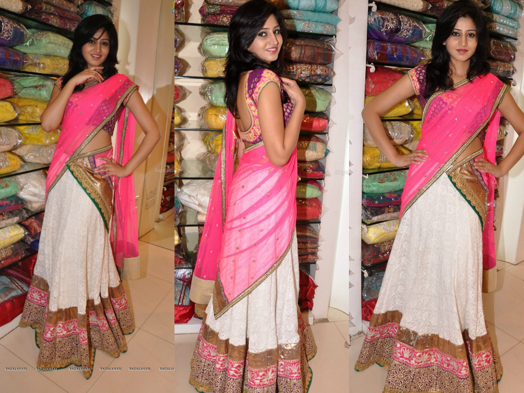 Shamili Wedding http://www.southindiafashion.com/2013/05/model-shamili-in-half-saree.html
