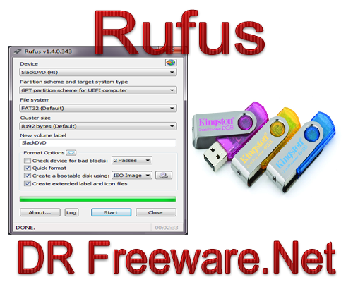Rufus 1.4.7 Build 455 Free Download