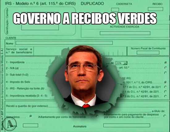 Pedro Passos Coelho – Governo a Recibos Verdes