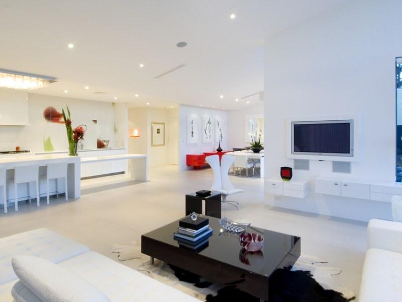Casas minimalistas y modernas el living comedor moderno for Fotos de living modernos