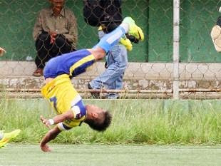Video of Peter Biaksangzuala who Died from Goal Celebration Accident
