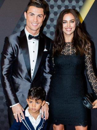 Happier times ... Cristiano Ronaldo and Irina Shayk with son Cristiano Ronaldo Jr. Picture: SplashSource:Splash News Australia