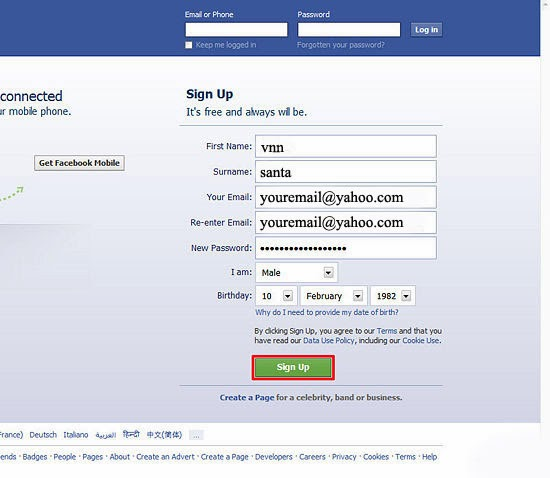 Create A New Facebook Account Gmail User Guide