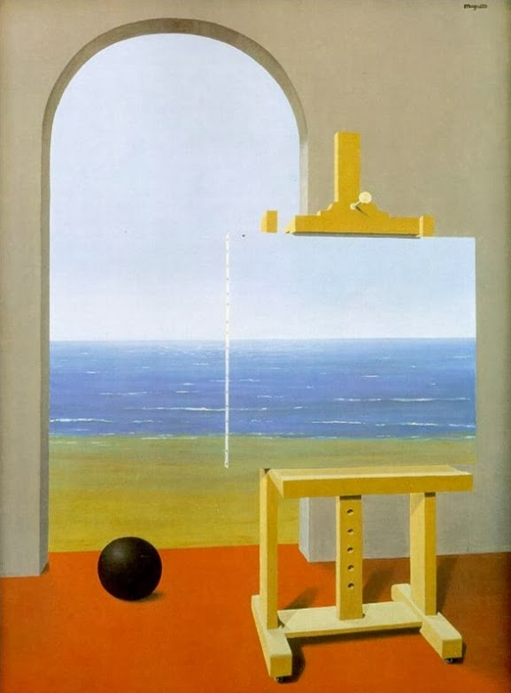 rene magritte, technology, the human condition, photo overlay