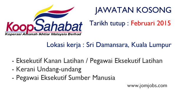 Jawatan Kosong Koperasi Amanah Ikhtiar Malaysia Berhad 2015
