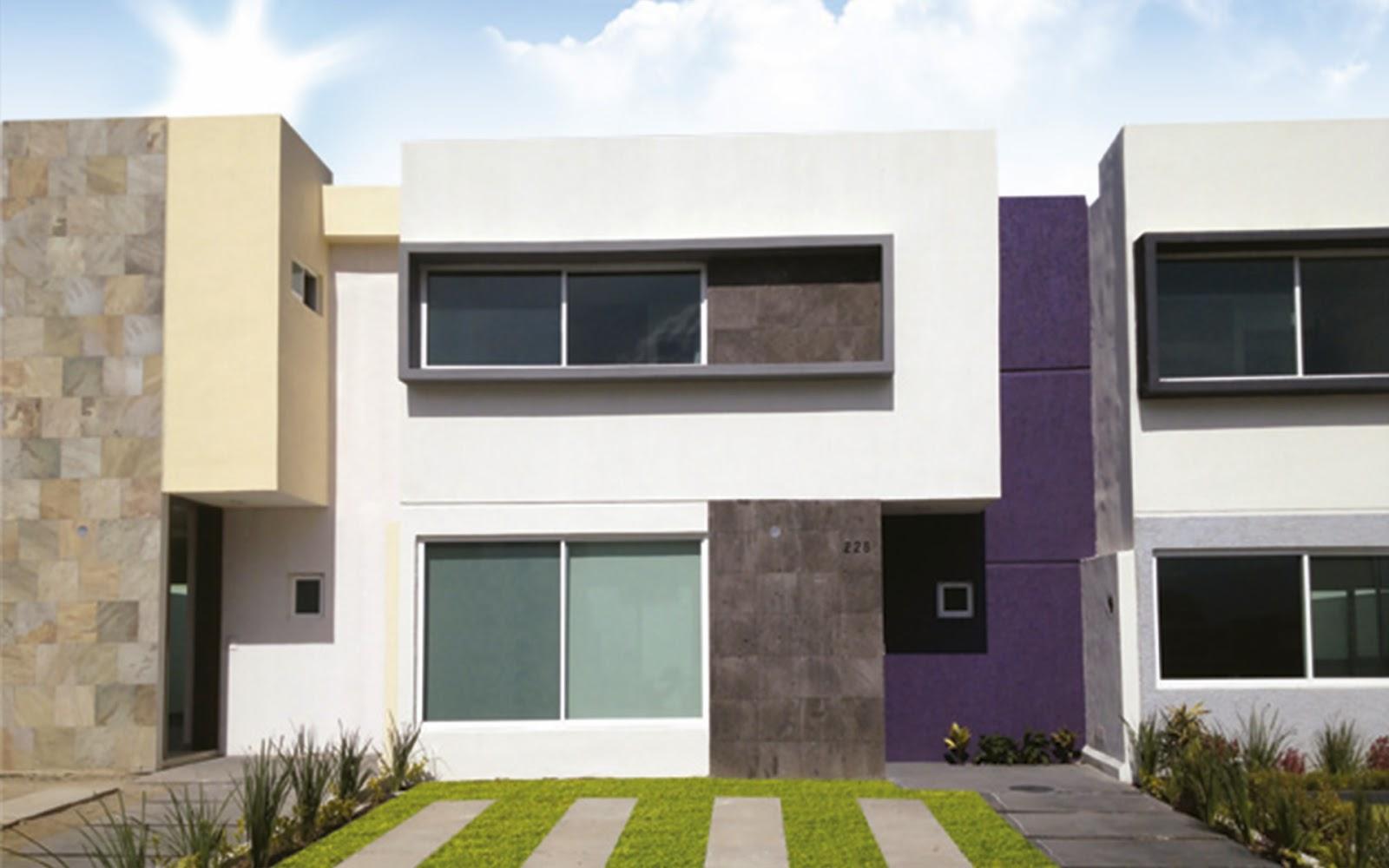 Fachadas de casas adosadas dise os arquitect nicos for Fachadas duplex minimalistas