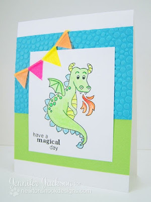 Neon Dragon Card using Magical Dreamsstamp set