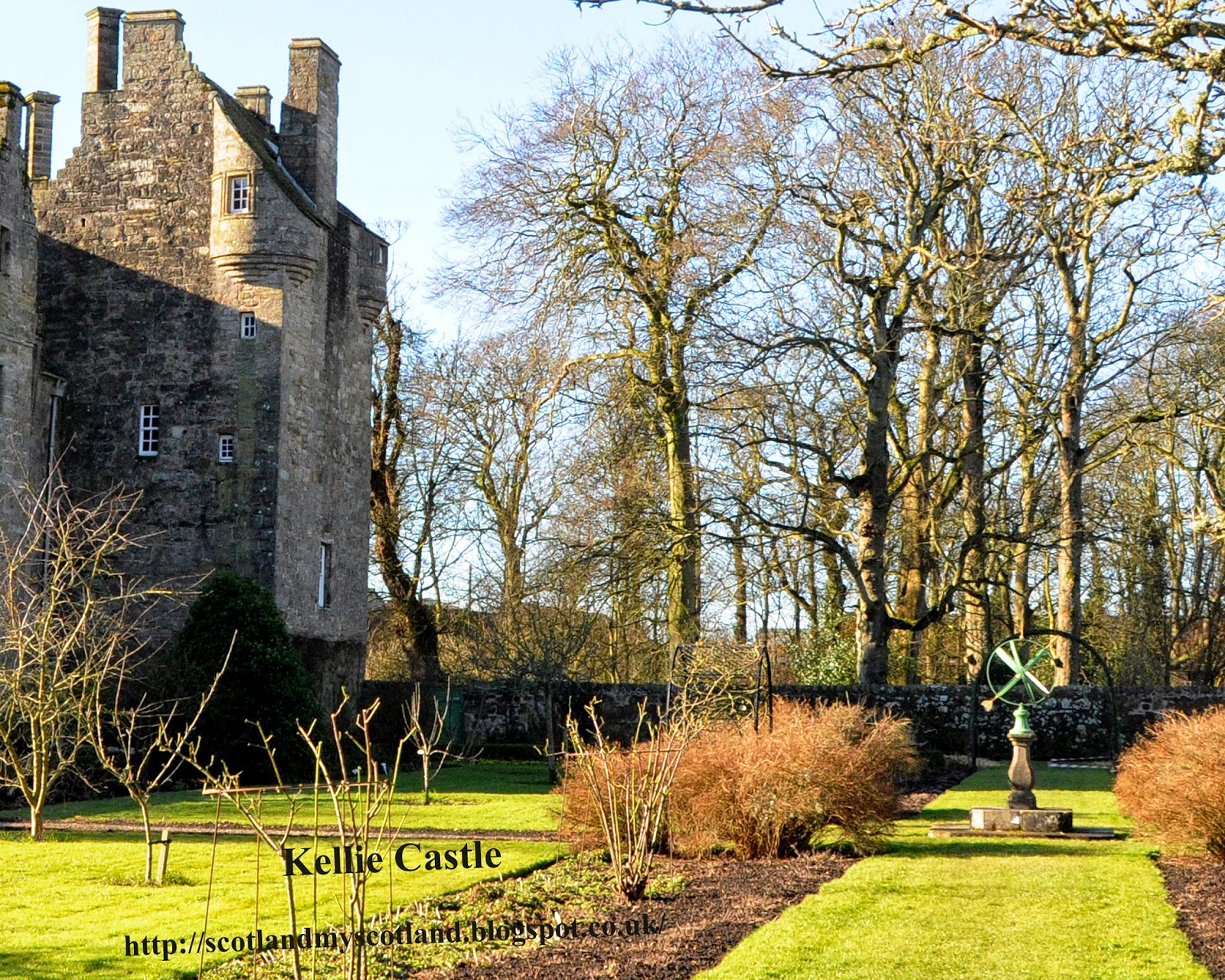 Kellie Castle from the walled garden