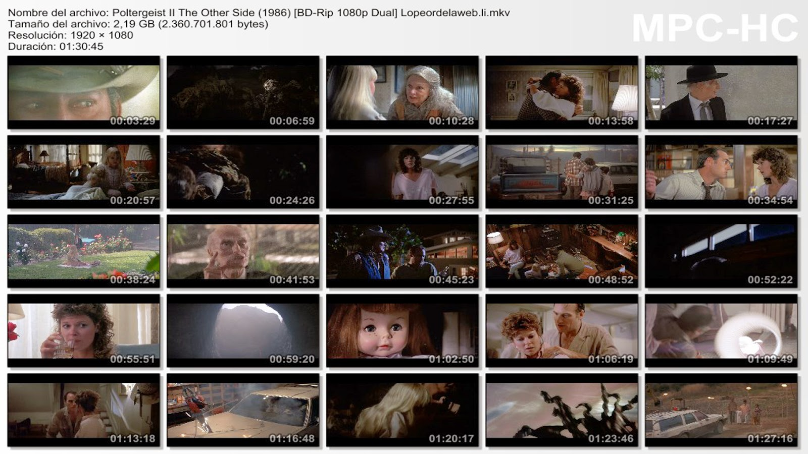 Poltergeist II: The Other Side |1986 |1080p.|Dual |Latino