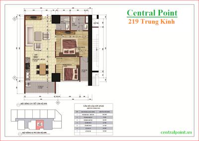 Căn hộ số 9 chung cư Central Point  - diện tích 69m2.