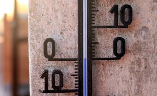 Thermometer hits zero