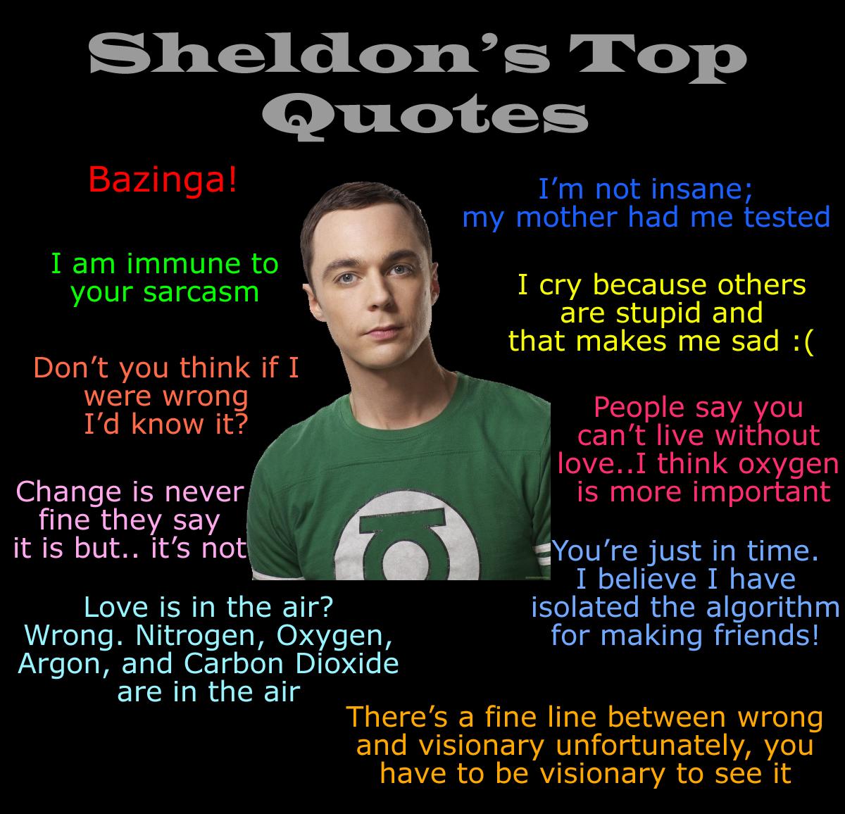 Top Sheldon Cooper Quotes. QuotesGram