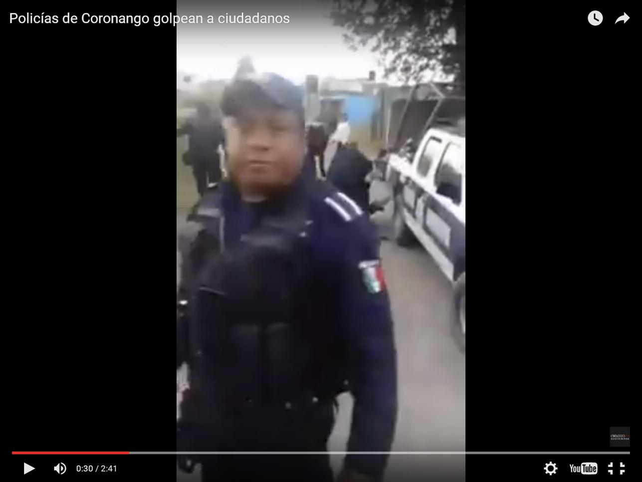 VIDEO: POLICIAS DE CORONANGO GOLPEAN A CIUDADANOS