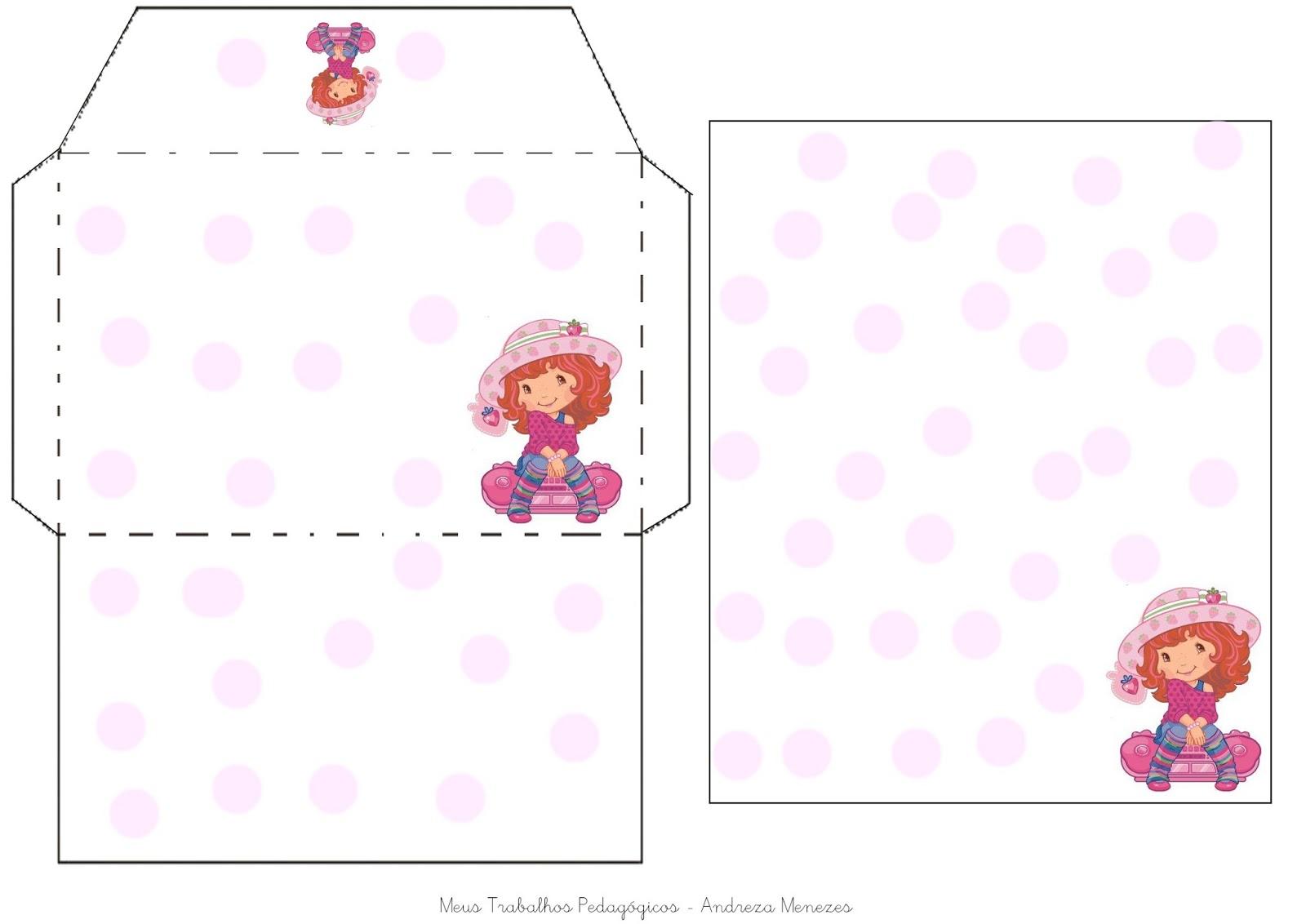Famosos Meus Trabalhos Pedagógicos ®: Modelo de envelope com papel de carta. ZY94