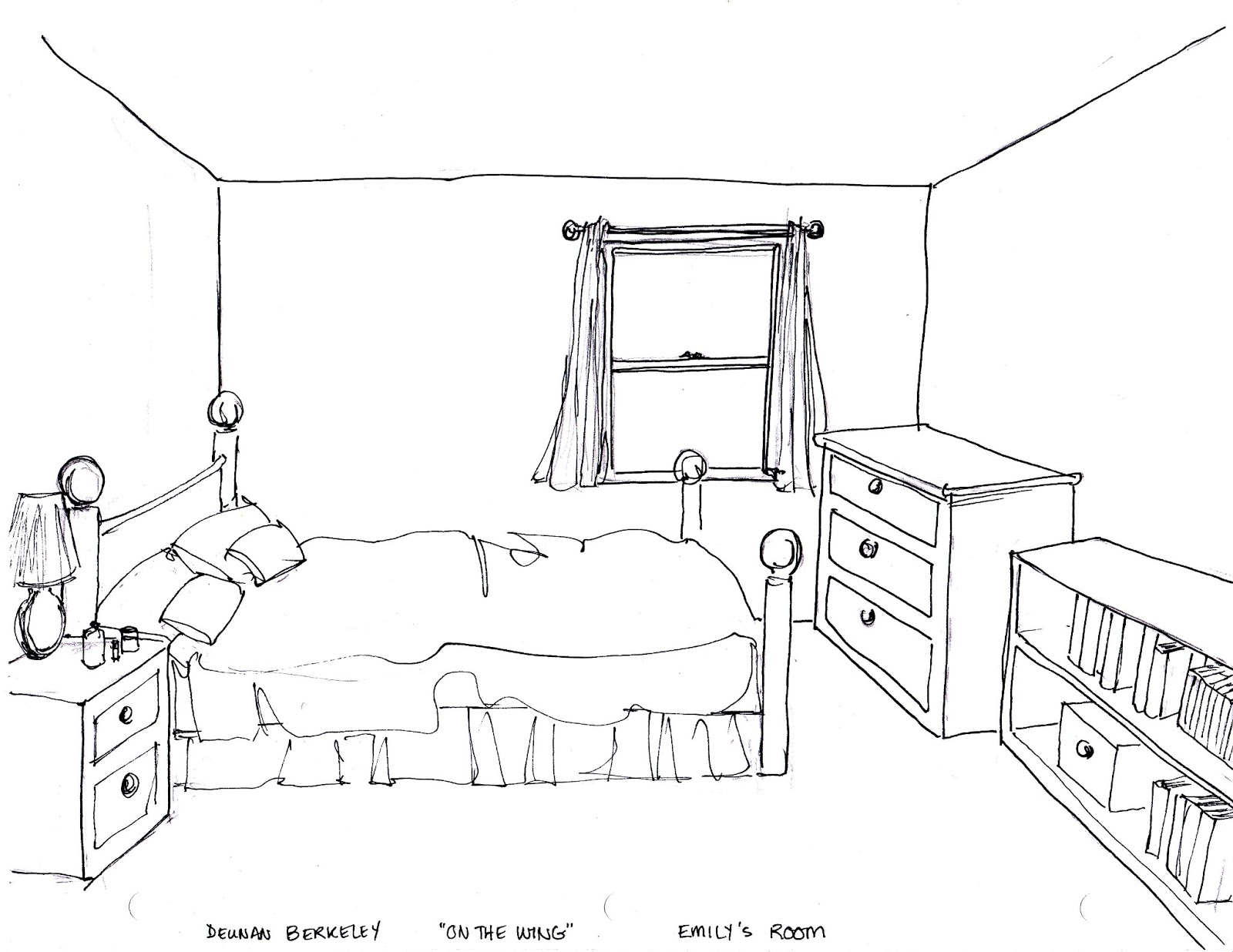 Bedroom Sketch Templates