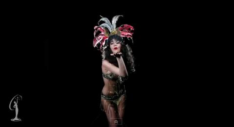 Strikes a Pose  - Miss Universe 2011