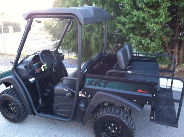 Club car xrt950 hunting utility vehicle now with folding rear seat