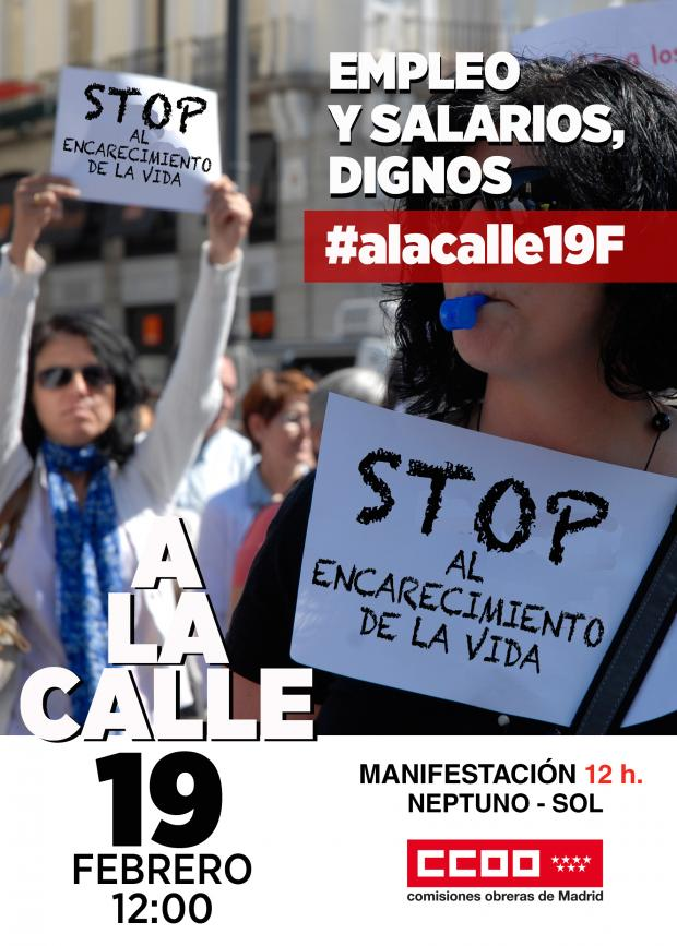 19 febrero Manifestación 12 h