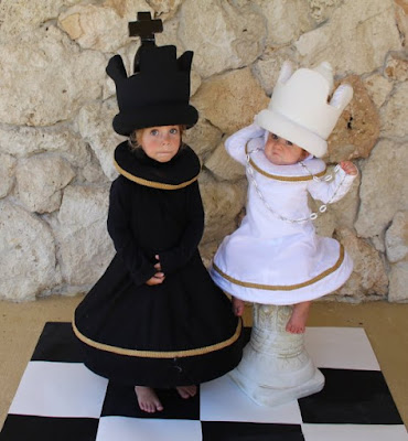 Chess queen and king costumes 2