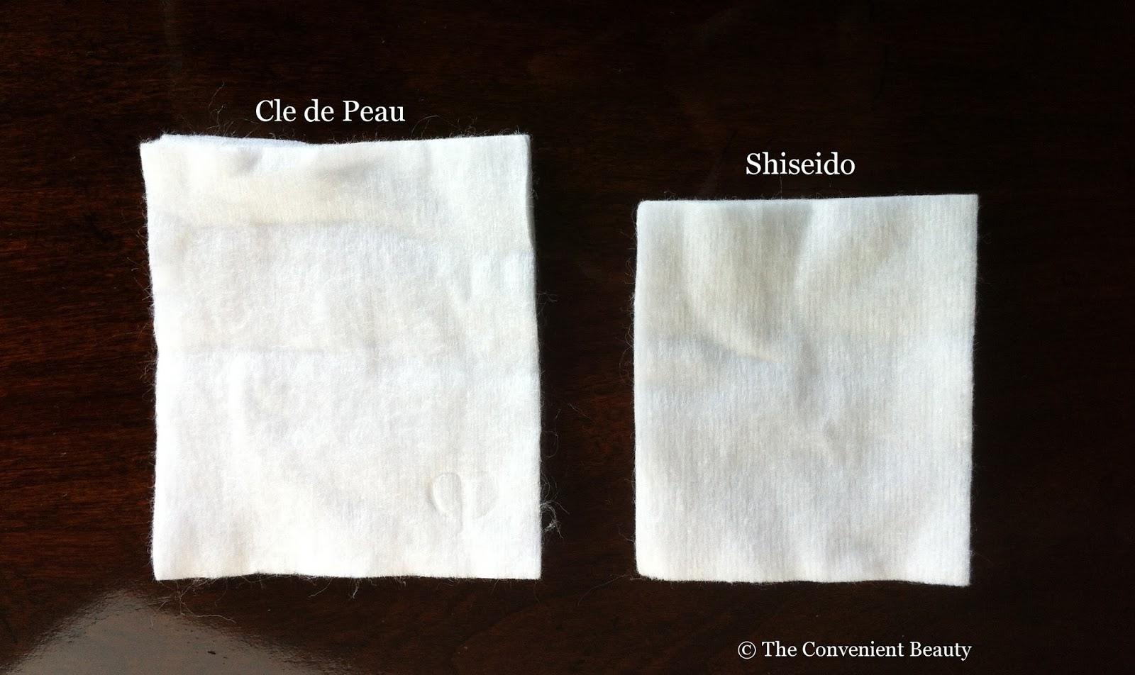 the convenient beauty review shiseido facial cottons. Black Bedroom Furniture Sets. Home Design Ideas