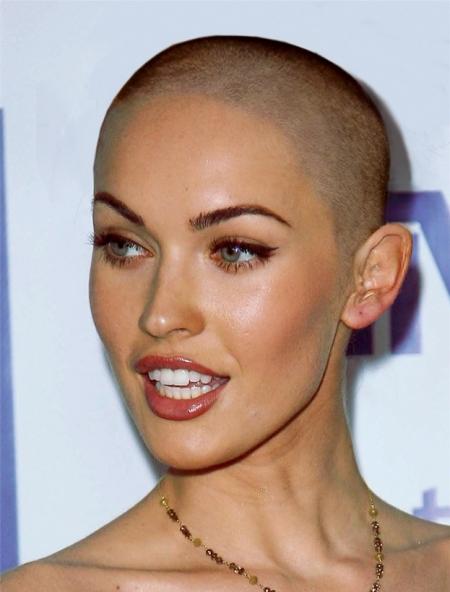 Megan Fox Bald Look Without Hair 18