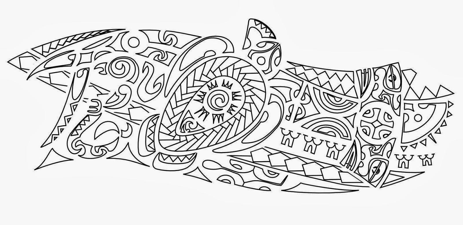 "Armband ""river"" Samoan tattoo stencil"