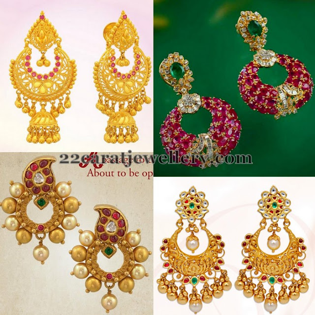 Contemporary Huge Chandbalis in Gold