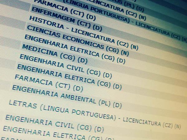 Confira a lista de aprovados no Vestibular 2013.2 da Universidade Federal de Campina Grande