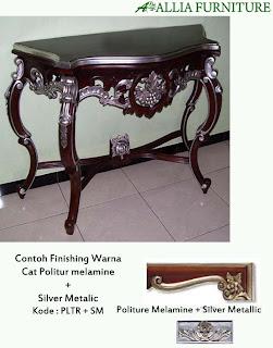 Contoh Furniture Politure Melamine Kombinasi Perak
