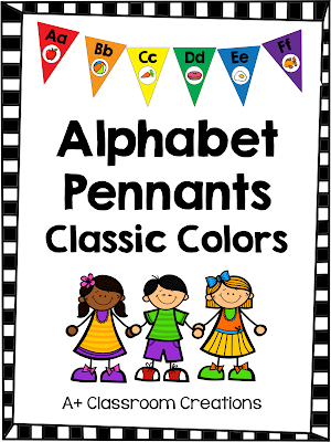 http://www.teacherspayteachers.com/Product/Alphabet-Pennants-Classic-Colors-1268470