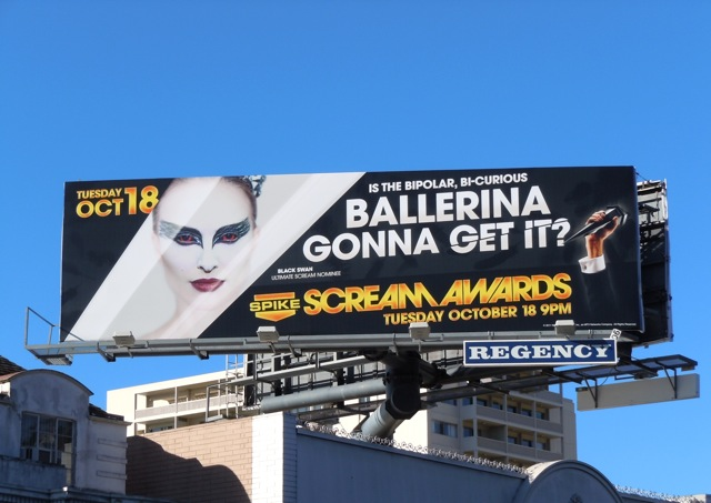 Ballerina Scream Awards billboard