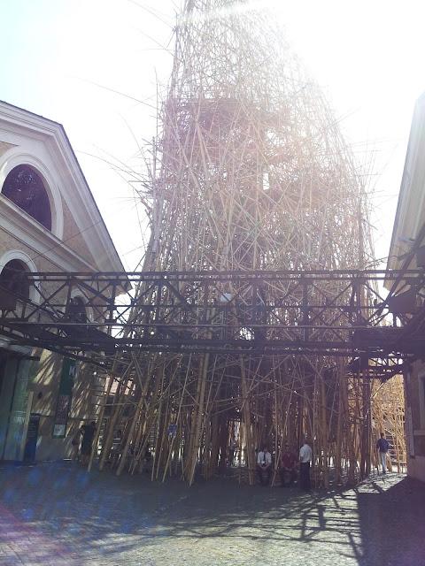 罗马的圆竹建筑小品 Bamboo Structure In Rome - James lee - Voice