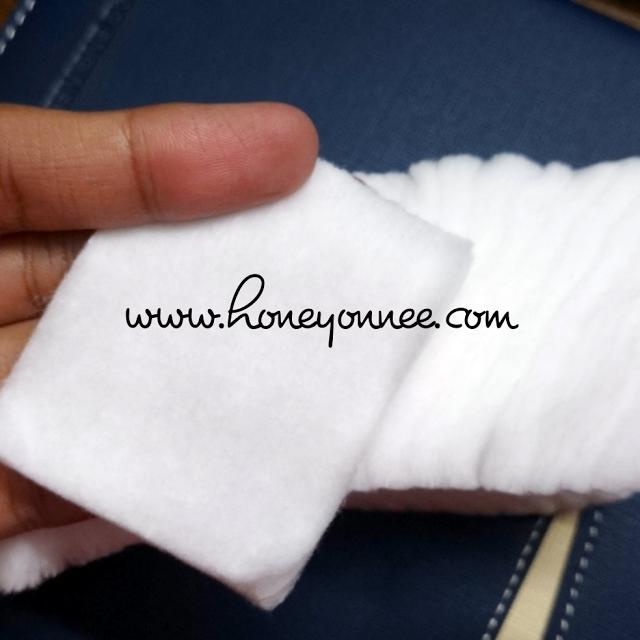 facial cotton digunakan untuk mencuci muka , atau mekap menggunakan makeup remover
