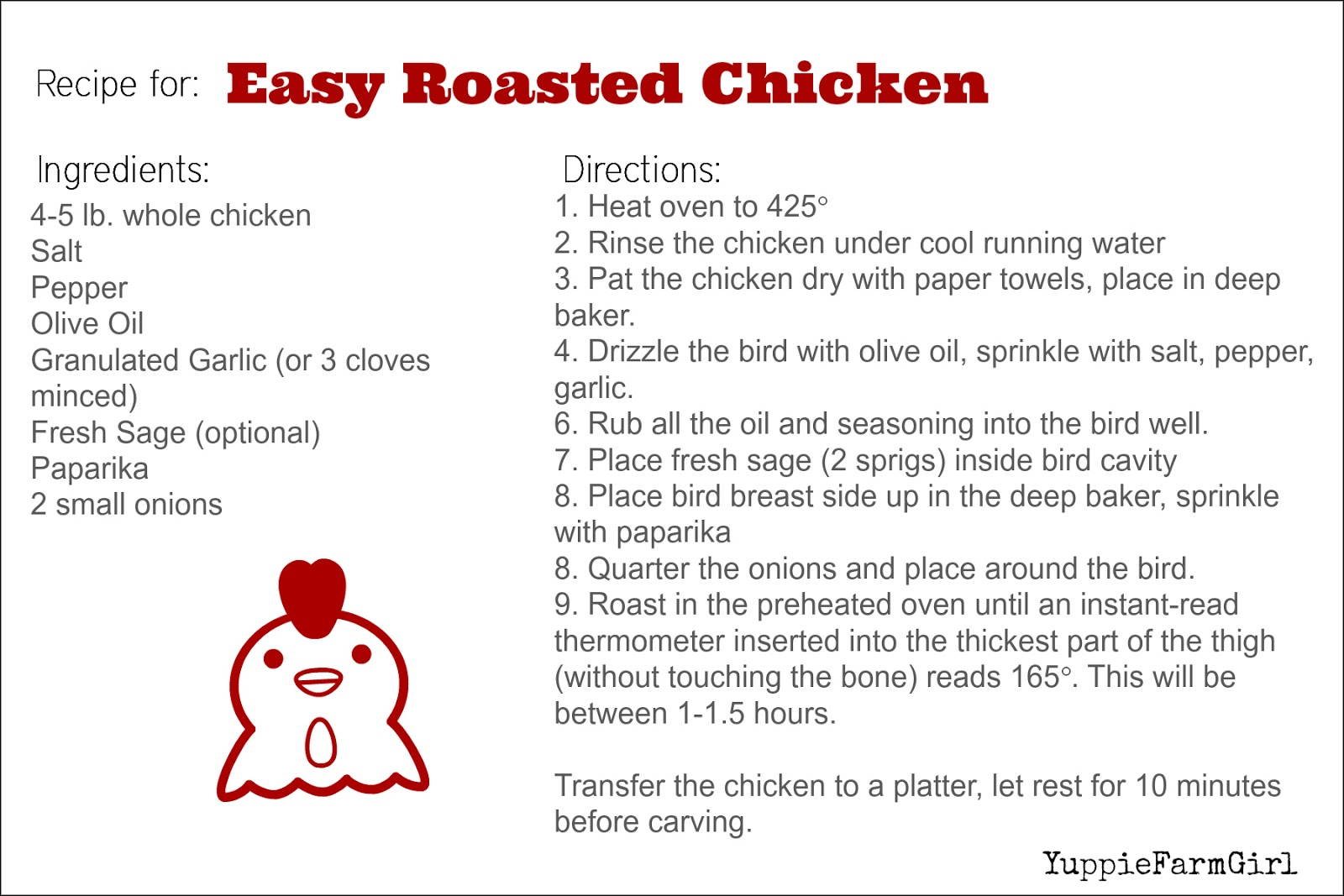 Click The Image Below To Print Your Own Fancy Dancy Recipe Card
