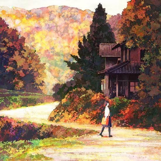 Jun Kumaori pinturas garotas colegiais japão onírico