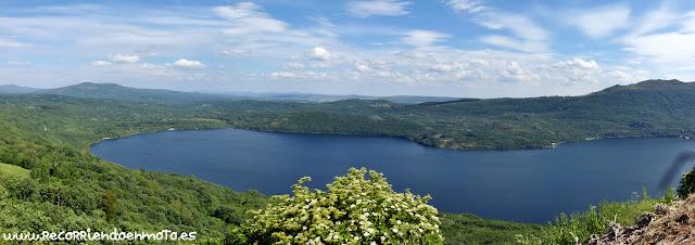 panorámica de Lago de Sanabria desde S. Martín de Castañeda
