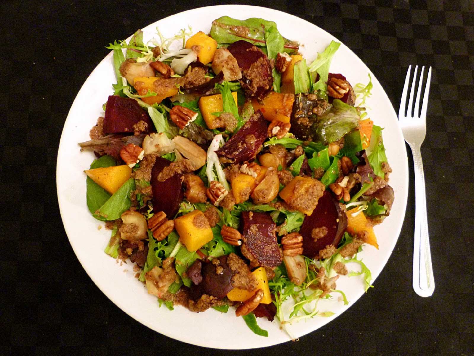 Vanilla & Spice: Roasted Squash, Beet & Chestnut Salad with Warm ...